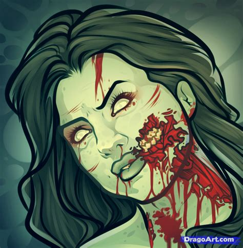Drawing Zombies by How To Draw Selena Gomez Step By Step Zombies