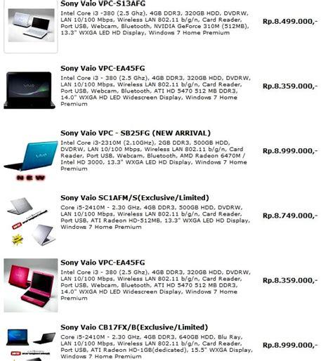 Laptop Acer Beserta Gambarnya daftar harga notebook 2012 komputer carapedia