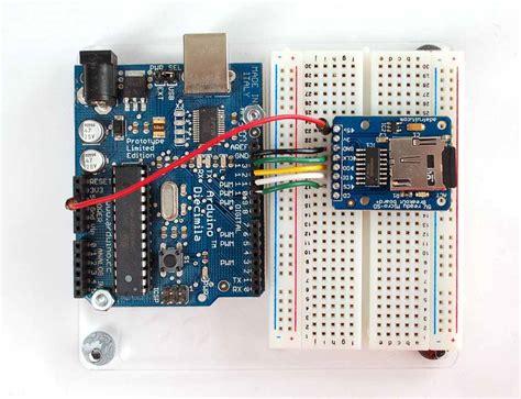 tutorial arduino sd card tutorial using sd micro sd cards with an arduino