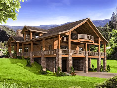 wrap around porch house plans architectural house plans mountain house plan with huge wrap around porch 35544gh