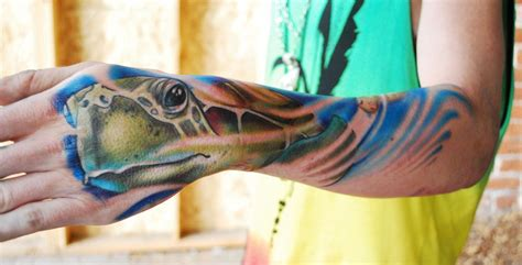 sea turtles tattoos sea turtle by mike toth tattoonow