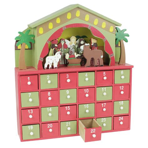 wooden nativity advent calendar with drawers wooden nativity advent calendar