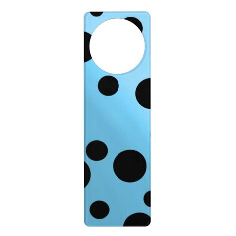 dots on blended skyblue door knob hangers zazzle