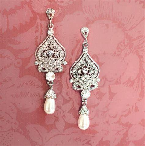 braut ohrringe perlen 1920er jahren ohrringe braut perlen ohrringe