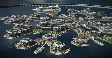 A Floating City floating city concept by the seasteading institute