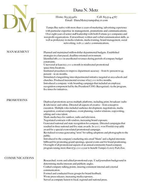 Resume Summary Statement College Student N Metz Professional Summary