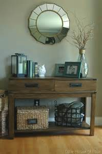 Entry Way Table Decor by Entryway Reveal Diy Plank Wall Tutorial Little House