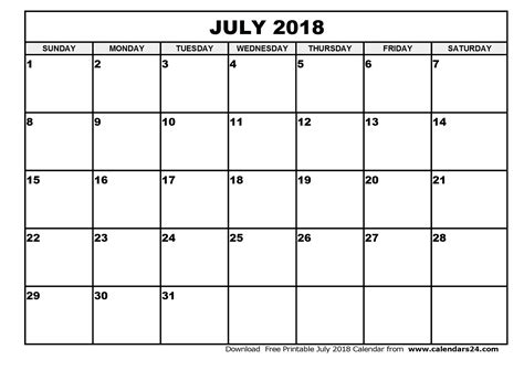 printable calendar july august 2018 july 2018 printable calendar calendar yearly printable