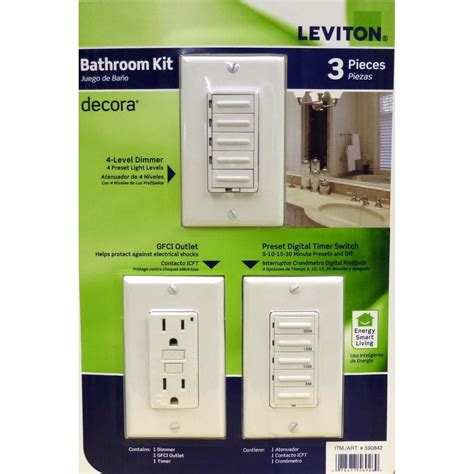 dimmer switch in bathroom leviton bathroom switch kit timer gfci dimmer