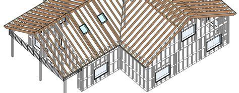 wood framing wall  wood framing roof  revit