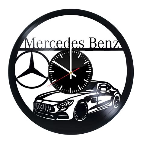 cool house clocks mercedes amg handmade vinyl record wall clock cool design