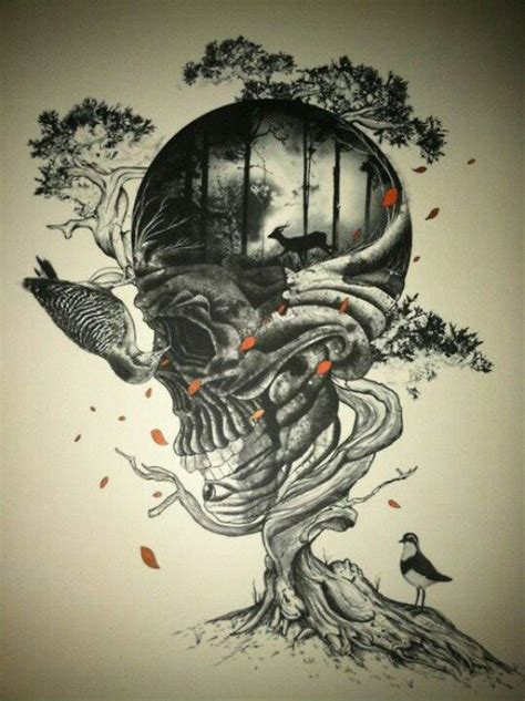 skull tree tattoo skull tree rocknroll