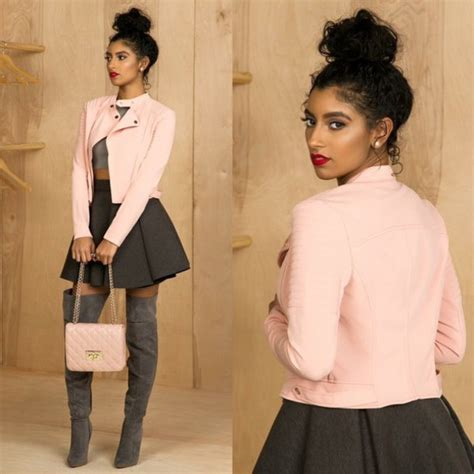 Dress Baby Pink Grey jacket grey boots pink dusty pink blush pink baby