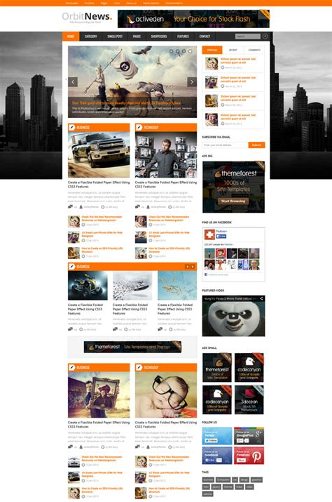 20 Responsive Magazine Website Templates Website Magazine Template