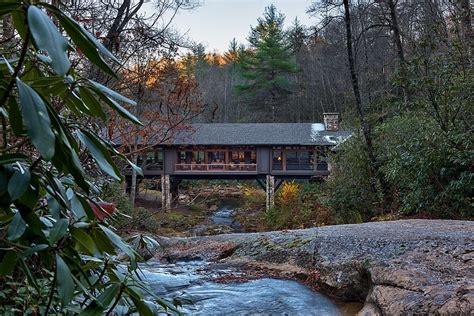 bridge house bridge house home across a stream