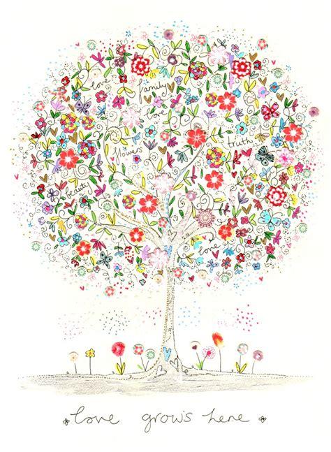 love grows  illustration canvas print  kim anderson
