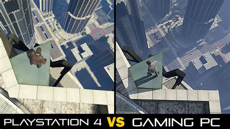 playstation 4 vs pc which is right for you grand theft auto v pc vs playstation 4 graphics comparison