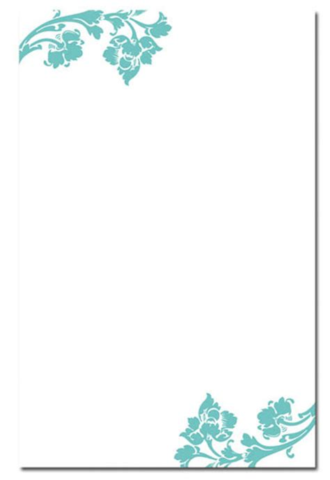 Blank Wedding Invitation Card Designs Unique Wedding Ideas Blank Invitation Cards Templates Blue