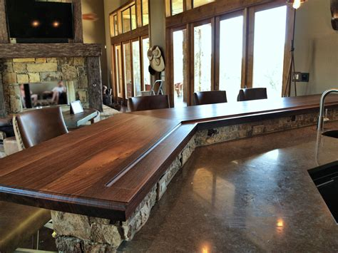 bar on top devos custom woodworking tx walnut wood countertop photo