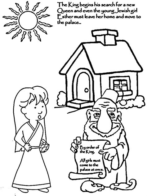 coloring pages esther queen bible pictures of queen esther from the bible coloring home