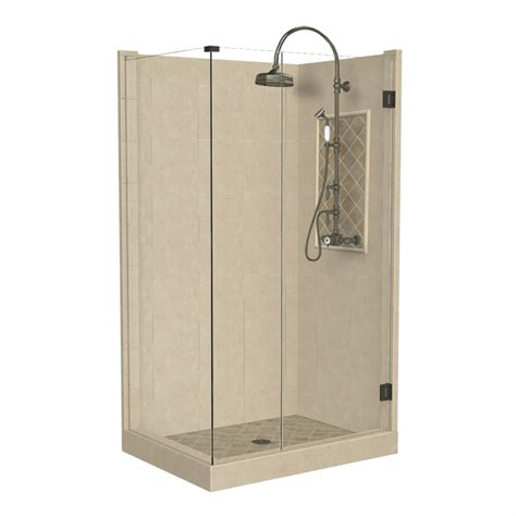 bathroom shower kits shop american bath factory panel medium fiberglass and