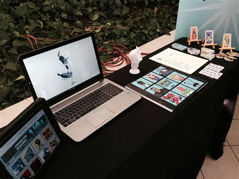 Table Set Up Senior Portfolio Shows