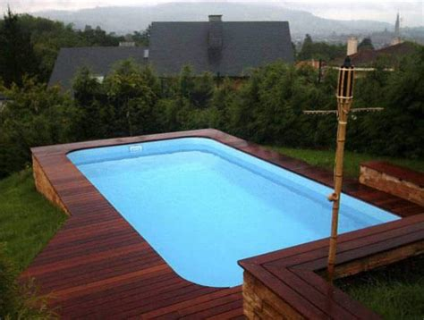Modern Cottage Design rectangle modern above ground swimming pool outdoor above