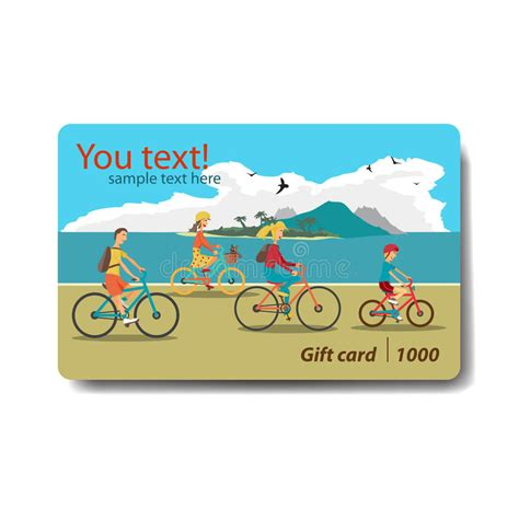 Discounted Gift Cards For Sale - summer sale discount gift card branding design for travel stock illustration
