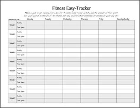 Number 1 Printable On Practips This Week Free Printable Fitness Easy Tracker Health Fitness Tracker Template