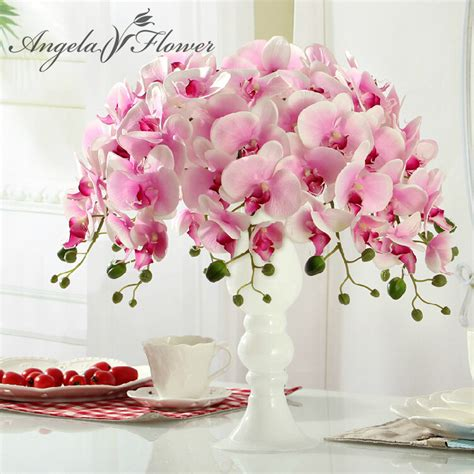 artificial flower decoration for home hi q 11pcs phalaenopsis artificial flower 78cm 7heads silk