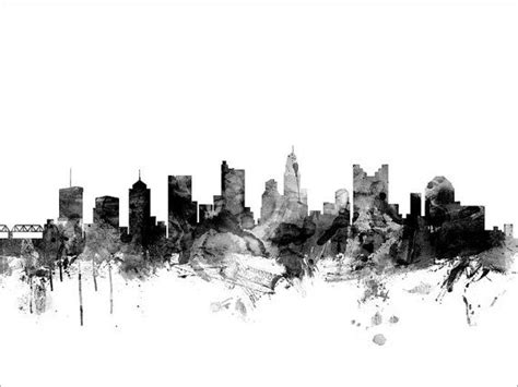 watercolor tattoos columbus ohio columbus skyline columbus ohio cityscape print by