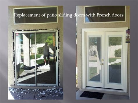 Replacing Patio Doors With French Doors Replace Sliding Patio Door