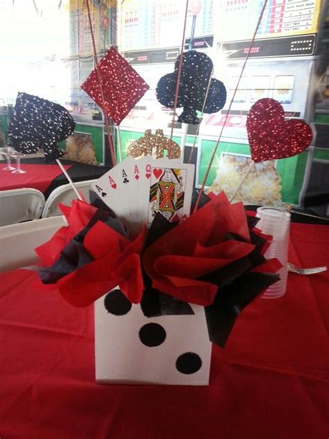37 best images about Casino Party Decorations on Pinterest   Centerpieces, Online casino and Events
