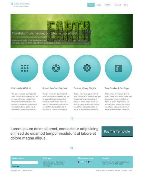 free clean business html css template speckyboy web