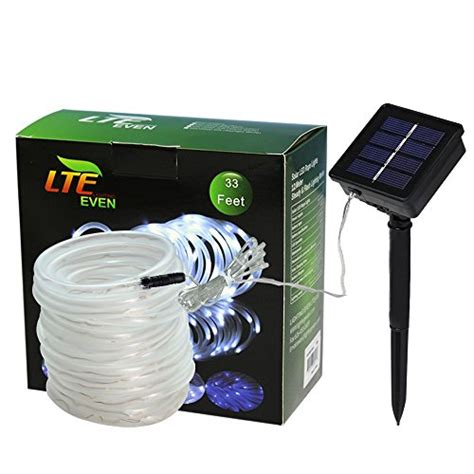 solar led rope lights outdoor lte 100 led solar rope lights 33ft outdoor waterproof