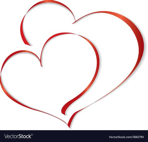 two lovers heart royalty free vector image vectorstock