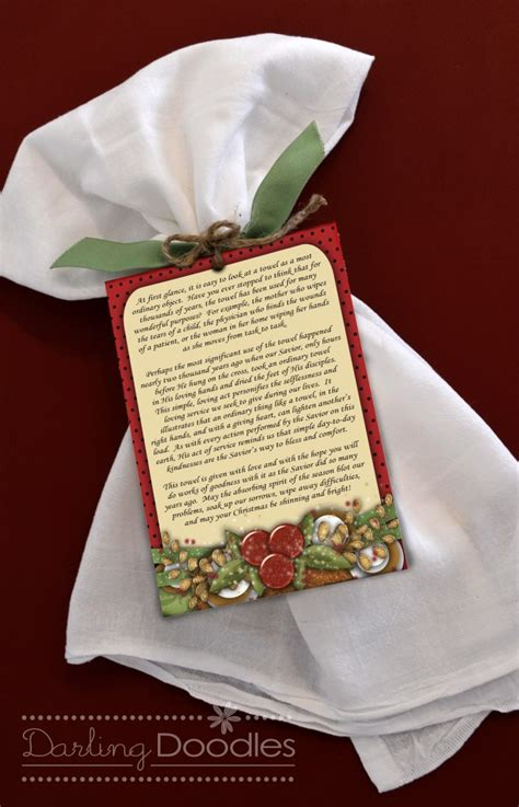 Christmas Towel Poem   Simple Gift For Giving   24/7 Moms