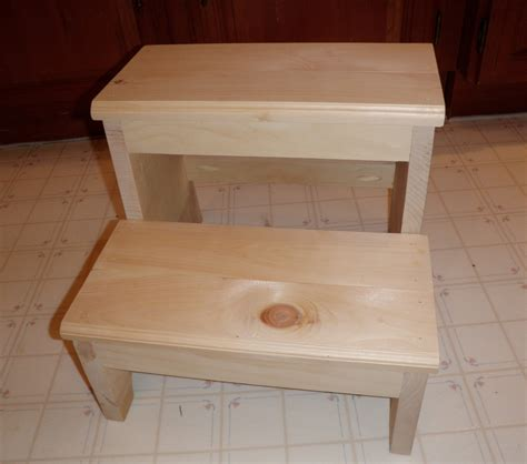 how to build a wooden step stool plans diy free