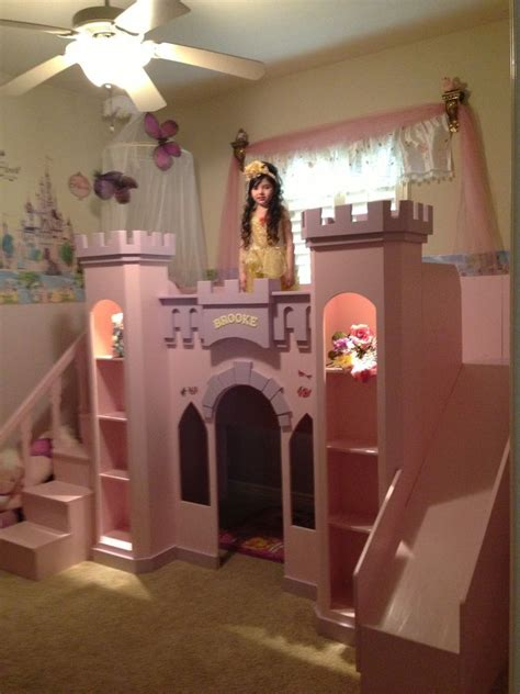 custom princess brookes castle bed  led accent