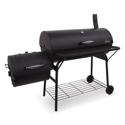 Backyard Grill Charcoal Charbroil American Gourmet Deluxe Offset Charcoal Smoker