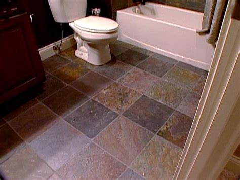 bathroom flooring the pros and cons of slate tile diy