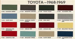 toyota color codes fj40 fj55 and fj60 colors and color codes