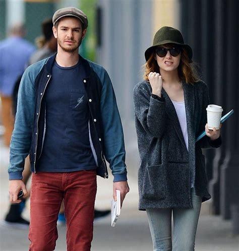 emma stone andrew garfield emma stone and andrew garfield out in new york hawtcelebs