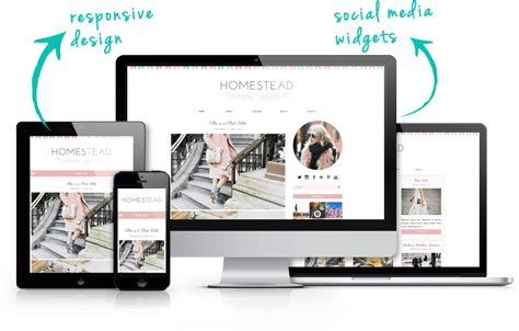 blogger grid template blogger template homestead a cute responsive grid layout