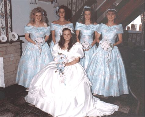 cross dressing bridesmaids perm something blue wedding pinterest reception vintage