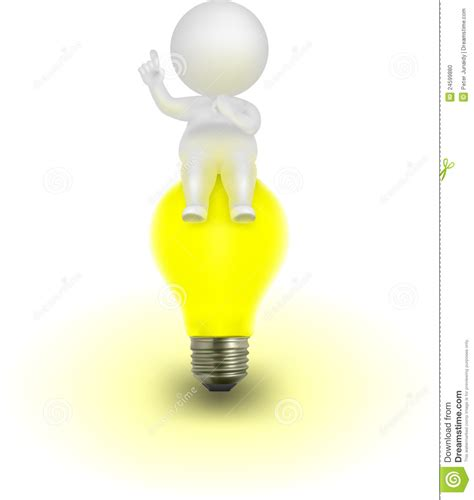 idea images 3d man vector illustration having an idea stock vector