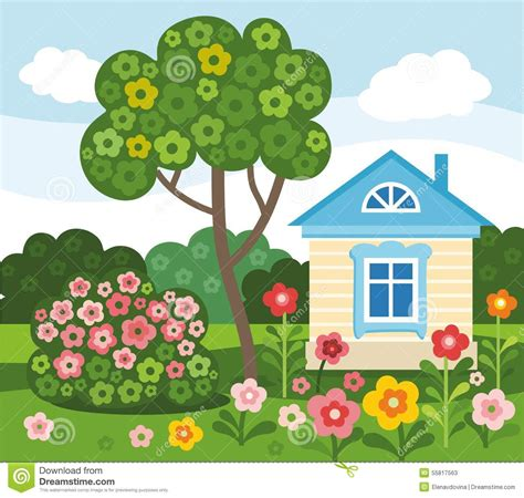 house drawing images www imgkid com the image kid has it fleurs maison 233 t 233 color 233 appartement illustration