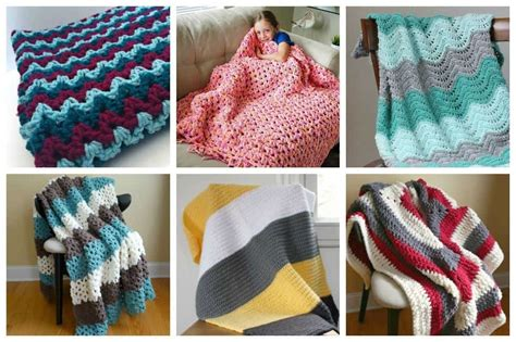 awesome crochet blanket patterns  beginners ideal