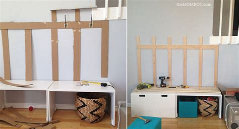 Entryway Coat Rack With Bench by Diy Mudroom Using Ikea Stuva Benches Ikea Hackers Ikea