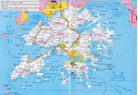 hong kong map maps of hong kong detailed map of hong kong in english